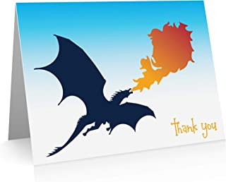 Little Notes by Comptime Dragon Thank You Cards (12 Cards and Blank Envelopes)