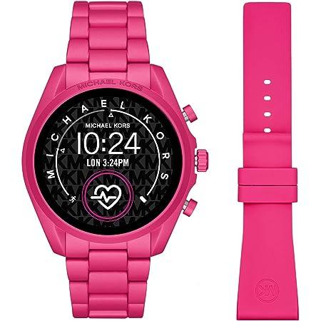 Smartwatch Michael Kors Touchscreen Gen 5 Bradshaw 2 con cassa in alluminio e cinturino in tono rosa caldo MKT5099