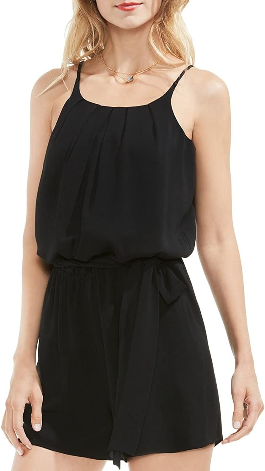 Vince Camuto Womens Pleated Blouson Romper