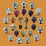 Colección de balones mundialistas desde 1930 - 2014 + trofeo Jules Rimet + trofeo FIFA + 23 soportes de madera