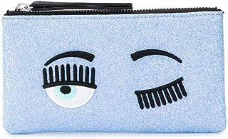 Luxury Fashion | Chiara Ferragni Womens CFPT001SKY Light Blue Pouch | Spring Summer 20