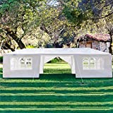 Best Beach Canopies For Parties - Homgrace White Patio Canopy - Instant Shelter Beach Review