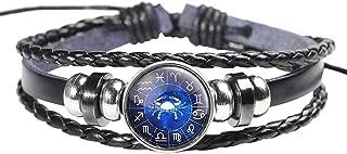 Horoscope Zodiac Western Astrology Cancer Wristband bracelet braided leather glow light in dark