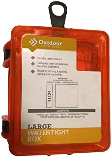 Outdoor Products Watertight Case Box, Large - Orange
