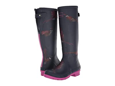 Joules Welly Print (Navy Birds) Women