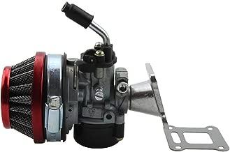 GOOFIT Performance Carb Carburetor Air Filter Assembly for 2-stroke 47cc 49cc Mini Pocket Bike Quad Chopper ATV Red