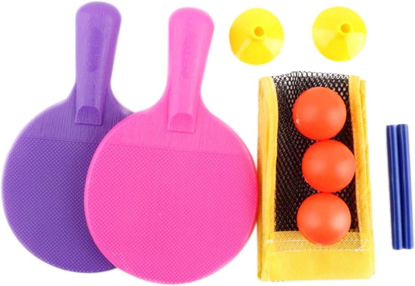 LCK Conjunto de Tenis de Mesa Paddle Training Indoor al Aire Libre Juegos de Juguete para niños Inicio Net Raqueta Deportes Principiante 1 Juego
