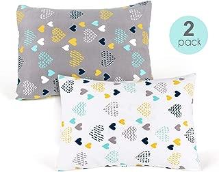 Kids Toddler Pillowcases-2 Pack Pillow Cover for Boys Girls Kids Bedding,Heart Pattern