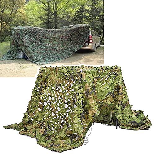 Yibcn Filet De Camouflage De L'armée,1.5x2m 2x6m 3x3m 3x6m 4x6m 3x6m 5x5m 5x6m 6x6m 10x10m, pour Jardin Parasol Protection De La Vie Privée Terrasse Balcon Pergola Gazebo Refuge