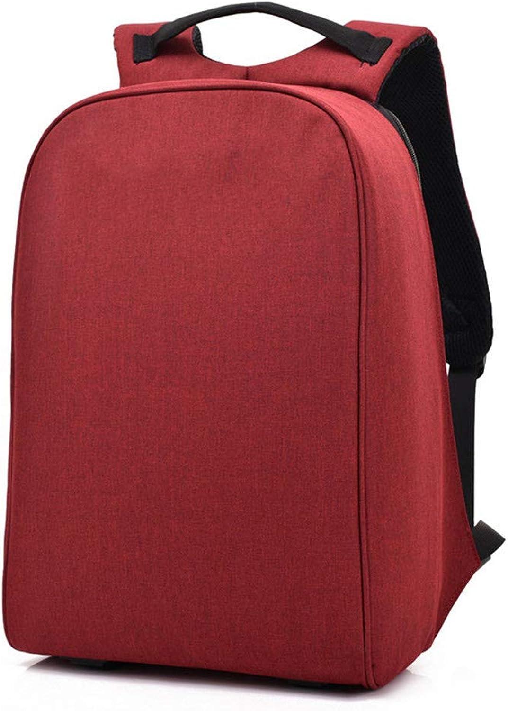 Cotangle Stadtrucksack Der Mnner Rucksack-USB-Rucksack 15,6 Zoll unter Geschfts-Computer-Taschen-im Freien Spielraum-Diebstahl-Tasche (Farbe   Rot)