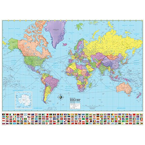 Universal Map 29181 World Advanced Paper - Rolled 2021 autumn and winter new Political Max 66% OFF