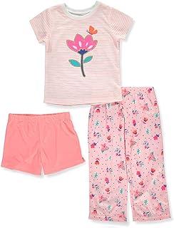 Carters Girls 3-Piece Cotton Pajamas