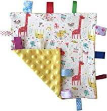 (Yellow) - G-Tree Yellow Baby Comforter Blanket - Rocket, Star and Moon Security Blanket with Plain Yellow Textured Underside
