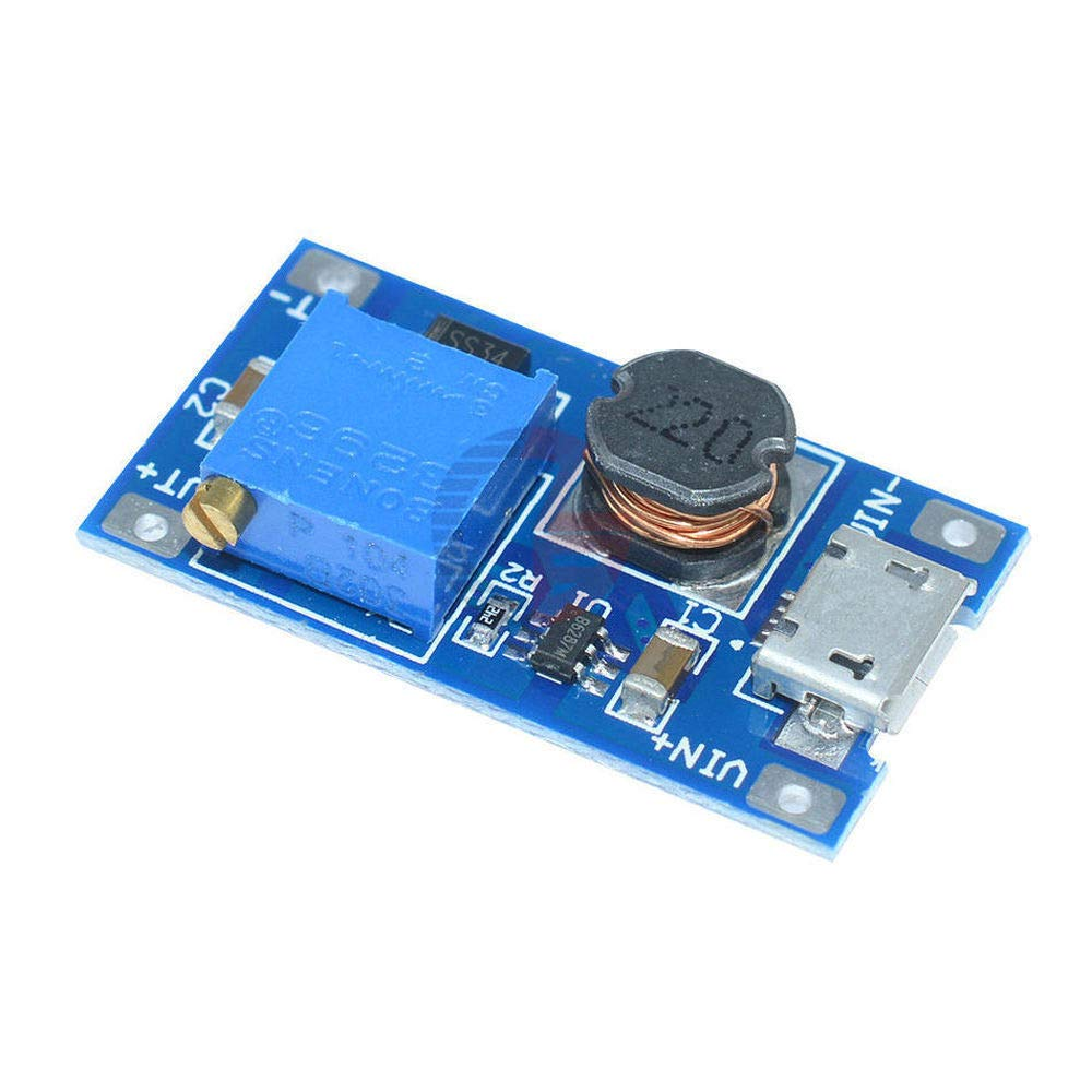5PCS MT3608 DC-DC Adjustable Boost Module 2A Step Up Power Converter Voltage Transformer 2A Micro USB LM2577 Replace XL6009