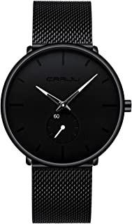Mens Watches Ultra-Thin Minimalist Waterproof - Fashion Wrist Watch for Men Unisex Dress with...