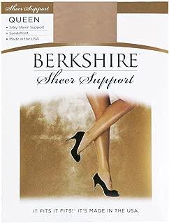 Berkshire Women's Plus-Size Queen Silky Sheer Support Pantyhose - Sandalfoot 4417