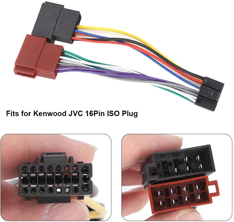 KIMISS 16 Pin Auxiliary Adapter ISO Adapter Bus Female Harness ...