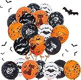 Sunshine smile 60 pezzi Palloncini di Halloween, palloncini decorativi di Halloween, set di decorazioni di Halloween,palloncini in lattice, forniture per decorazioni per feste