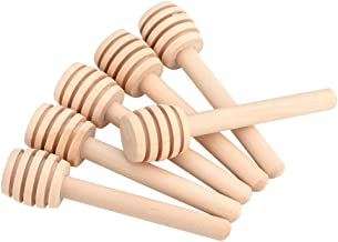 UPKOCH 5pcs Wooden Honey Dipper Sticks Jam Dippers Syrup Stirrer for Honey Pot Jar Container Mixed Colors