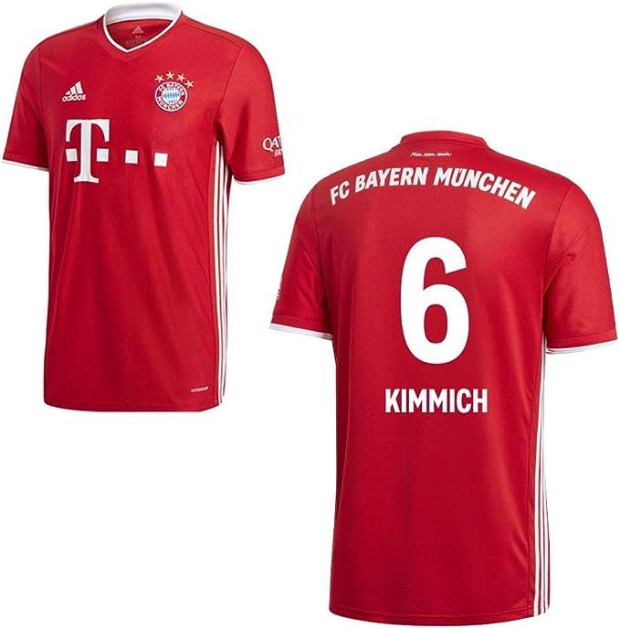 Adidas - Maglia da calcio FC Bayern Monaco 2020 2021, con nome giocatore