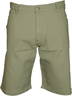 Mens Chino Shorts Big and Tall Kind Size Cotton Stretch Regular Fit in Black Navy Stone
