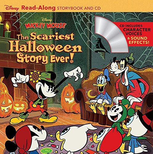 Disney Mickey Mouse: The Scariest Halloween Story Ever! Read-Along Storybook and CD
