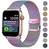 Funbiz Armband Kompatibel mit Apple Watch 38mm 40mm 42mm 44mm, Atmungsaktives Edelstahlgewebe...