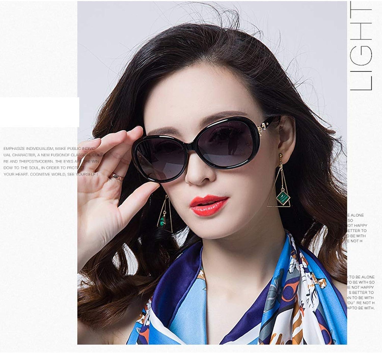 Women's Classic Stylish Designer Oval Polarized Sunglasses 100% UV400 Predection (color   Black)