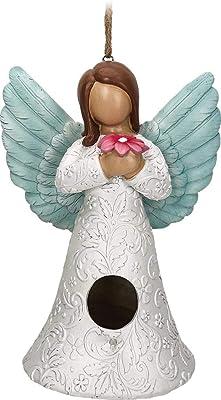Spoontiques 10233 Angel Birdhouse, White