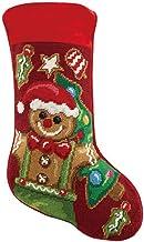 Peking Handicraft 31SJM10272AMC Gingerbread Man Stocking, 11-inch Length, Wool and Cotton