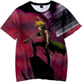 The Seven Deadly Sins Logo Oversized Anime T-Shirt 3D Printing Fashion T-Shirt Casual Sportswear Oversized T-Shirt Men Wom...