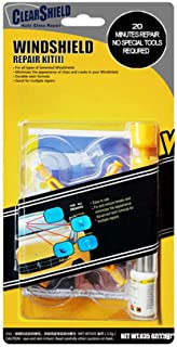 Clearshield Windshield Repair Kit DIY Auto Glass Rock Chip Repair Kit for Star Horseshoe Bull's Eye Chips or Cracks - No Need to Replace The Whole Windshield - with Instructions (1 Pack)