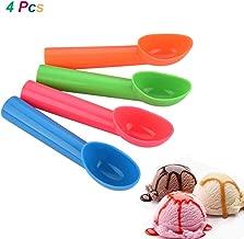 4 Pcs Ice Cream Scoop Scooper with Comfortable Handle Nonstick Fruit Cookie Dough Frozen Yoghurt Scoop Scooper