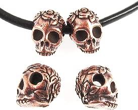 copper skull beads