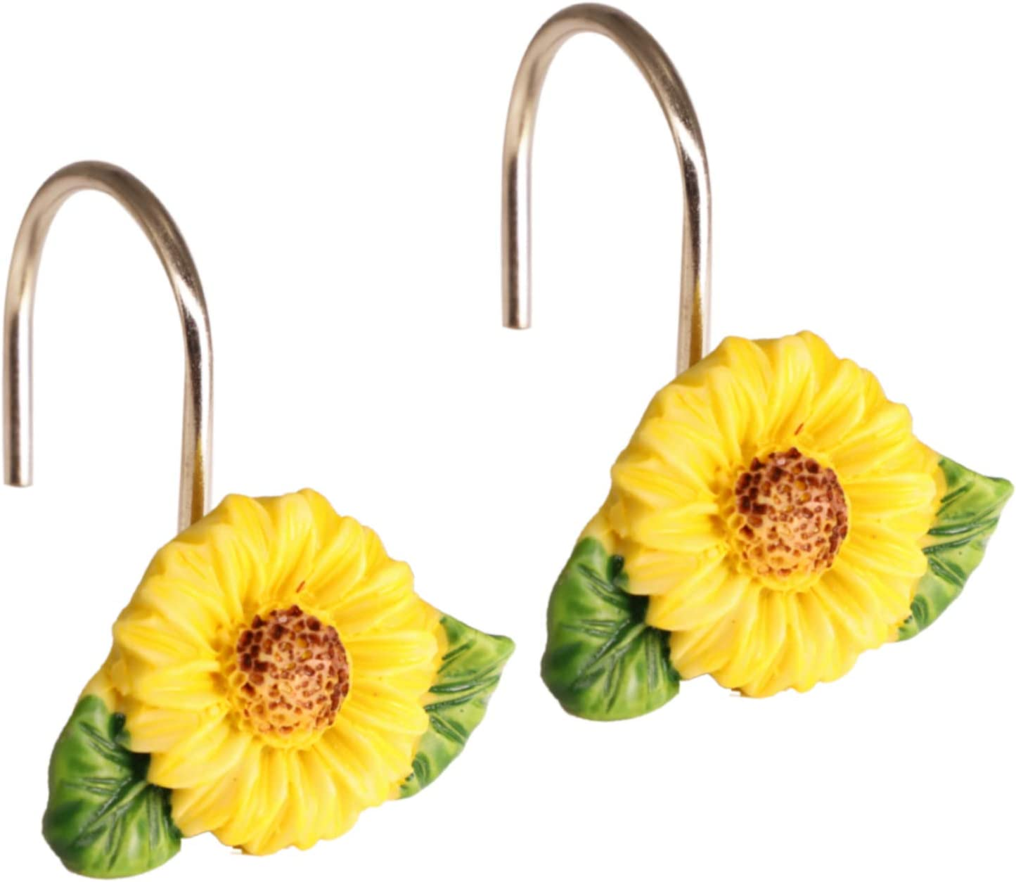 GMCOZY Sunflower Shower Curtain All items in the store Challenge the lowest price Hooks 12 Rings Bathroom Baby for