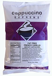 Cappuccino Supreme 2 lb bag Fat Free French Vanilla Instant Cappuccino Mix