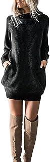 Damen Kleid, Sunday Frauen Winter Strickkleid Rollkragenpullover Mode Bodycon Minikleid