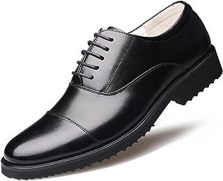 [ONE MAX] ビジネスシューズ 革靴 ウォーキング 本革 メンズ 大きいサイズ ストレートチップ 靴 内羽根 レースアップ オフィス 黒