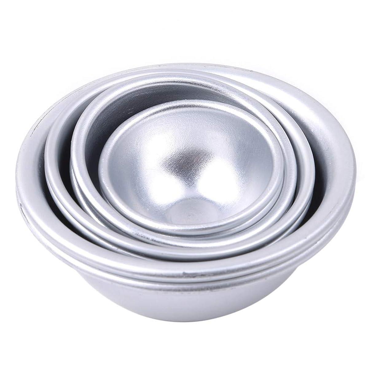 活性化暴君密接にToporchid Diy風呂ボール型アルミ合金入浴ボール手作り石鹸ケーキパンベーキングモールドペストリー作りツール(style2)