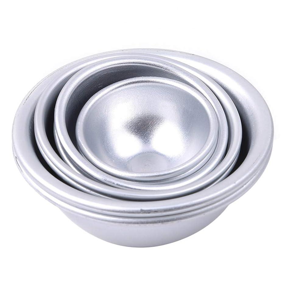 兵隊認知発音するToporchid Diy風呂ボール型アルミ合金入浴ボール手作り石鹸ケーキパンベーキングモールドペストリー作りツール(style2)