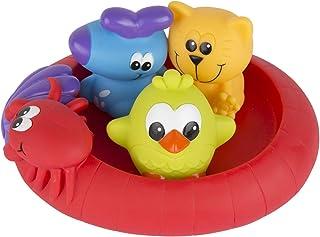 Playgro Mini-patos para el baño, 4 Piezas, Totalmente sellados, Resistentes al agua y la suciedad, Ideales para el baño de...