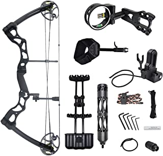 iGlow 40-70 lbs Black/Camouflage Camo Archery Hunting Compound Bow 175 150 60 55 30 lb Crossbow