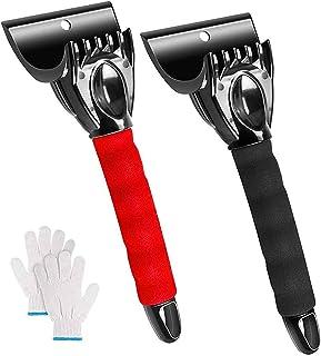Multi Function Ice Scraper 2st Car Ice Shovel med Non-Slip Comfort Grip Frost Snow Removal Tool för lastbil pickup vindrut...