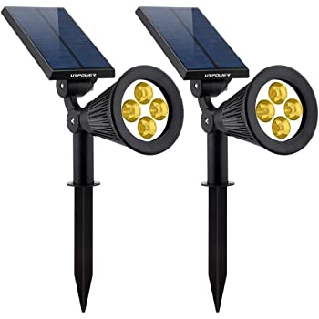 Dyxin Solar Spot Lights Outdoor Motion Sensor 36 LED Landscape Lamps Dual Head 1000 Lumens Bright Spotlight Waterproof Flood Lamp with 4 Mode for Pathway Pool Landscaping Decorative(Soft White)