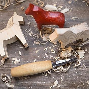 Morakniv Carving Droit 120 Couteau Fixe Mixte Adulte, Manche Bouleau Naturel