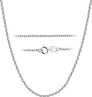1.8MM 925 Collar Plata de Ley Cadena para Mujeres Hombres Collar Cadena Larga Cadena Fina para Colgantes Collar Cadena Plata Individual 41/46/51/56/61/71 CM