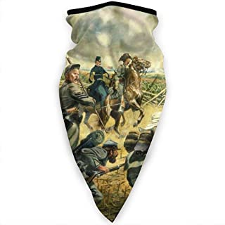 Oil Paint American Civil War Neck Gaiter Balaclava Headband Scarf Bandanas Outdoor