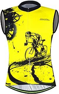 Sleeveless Cycling Jersey Aogda Men Bicycle Bike Shirts Vest Clothing Biking Bicycle Jacket Tight