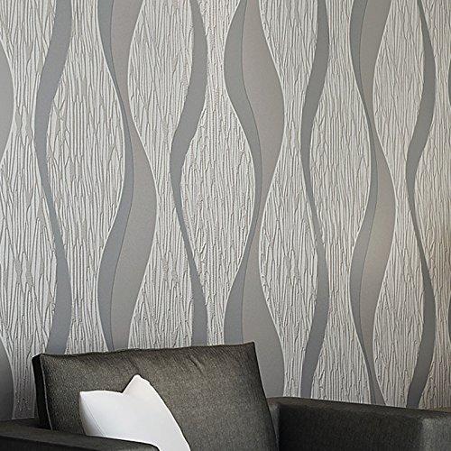 AllRight Wallpaper Roll 10M 3D Slate Stone Brick Retro Home Decor Designer Wall Paper Roll Wave Grey