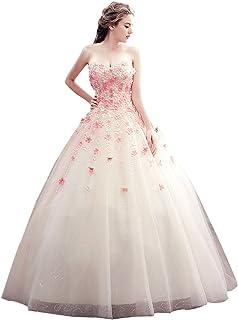 Desconocido JJL vestido de bola Prom vestidos de quincea?era con flores cari?o vestido de novia